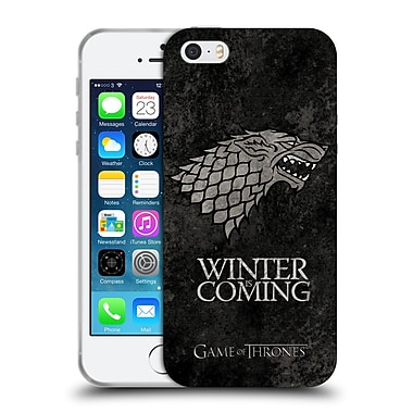 Official Hbo Game Of Thrones Dark Distressed Sigils Stark Soft Gel Case For Apple Iphone 5 / 5S / Se