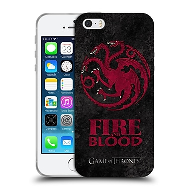 Official Hbo Game Of Thrones Dark Distressed Sigils Targaryen Soft Gel Case For Apple Iphone 5 / 5S / Se