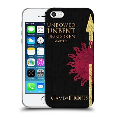 Official Hbo Game Of Thrones House Mottos Martell Soft Gel Case For Apple Iphone 5 / 5S / Se