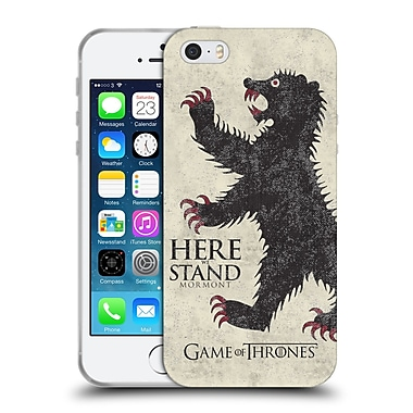 Official Hbo Game Of Thrones House Mottos Mormont Soft Gel Case For Apple Iphone 5 / 5S / Se