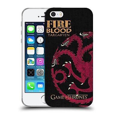 Official Hbo Game Of Thrones House Mottos Targaryen Soft Gel Case For Apple Iphone 5 / 5S / Se