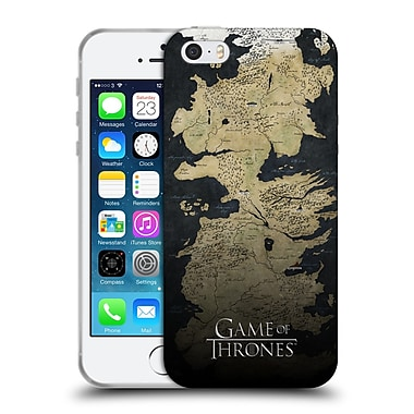 Official Hbo Game Of Thrones Key Art Westeros Map Soft Gel Case For Apple Iphone 5 / 5S / Se