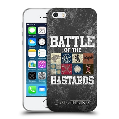 Official Hbo Game Of Thrones Battle Of The Bastards Distressed Text & Sigils Soft Gel Case For Apple Iphone 5 / 5S / Se