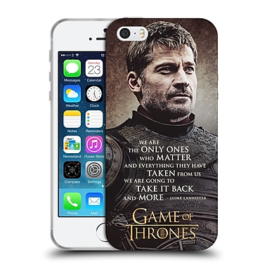 Official Hbo Game Of Thrones Character Quotes Jaime Lannister Soft Gel Case For Apple Iphone 5 / 5S / Se