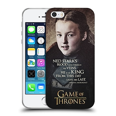 Official Hbo Game Of Thrones Character Quotes Lyanna Mormont Soft Gel Case For Apple Iphone 5 / 5S / Se