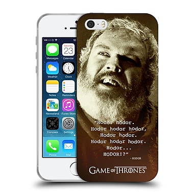 Official Hbo Game Of Thrones Hodor Memorial Type Quote Soft Gel Case For Apple Iphone 5 / 5S / Se