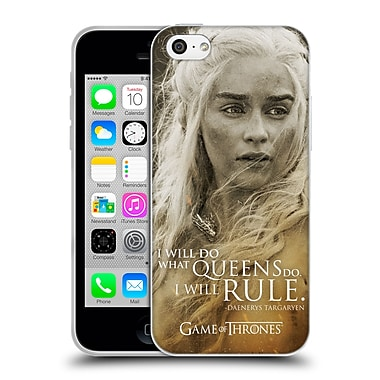 Official Hbo Game Of Thrones Character Portraits Daenerys Targaryen Soft Gel Case For Apple Iphone 5C