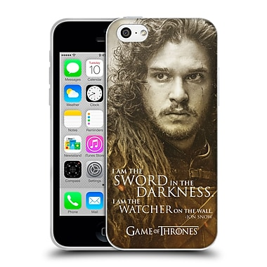 Official Hbo Game Of Thrones Character Portraits Jon Snow Soft Gel Case For Apple Iphone 5C