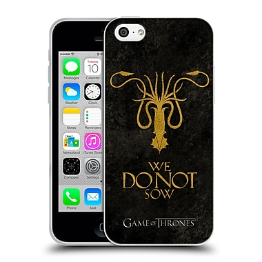 Official Hbo Game Of Thrones Dark Distressed Sigils Greyjoy Soft Gel Case For Apple Iphone 5C