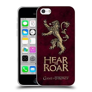 Official Hbo Game Of Thrones Dark Distressed Sigils Lannister Soft Gel Case For Apple Iphone 5C