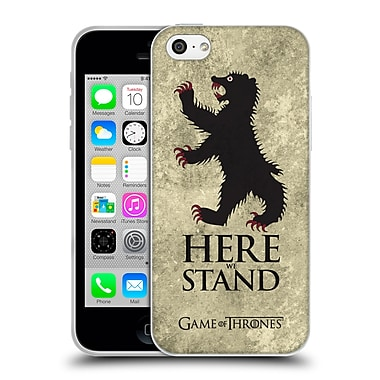 Official Hbo Game Of Thrones Dark Distressed Sigils Mormont Soft Gel Case For Apple Iphone 5C