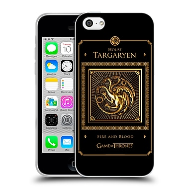 Official Hbo Game Of Thrones Golden Sigils Targaryen Border Soft Gel Case For Apple Iphone 5C