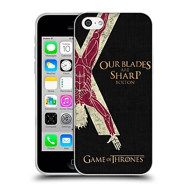 Official Hbo Game Of Thrones House Mottos Bolton Soft Gel Case For Apple Iphone 5C