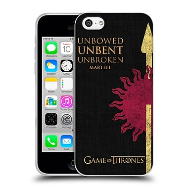 Official Hbo Game Of Thrones House Mottos Martell Soft Gel Case For Apple Iphone 5C
