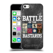 Official Hbo Game Of Thrones Battle Of The Bastards Distressed Text & Sigils Soft Gel Case For Apple Iphone 5C