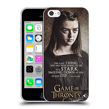 Official Hbo Game Of Thrones Character Quotes Arya Stark Soft Gel Case For Apple Iphone 5C