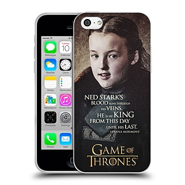 Official Hbo Game Of Thrones Character Quotes Lyanna Mormont Soft Gel Case For Apple Iphone 5C