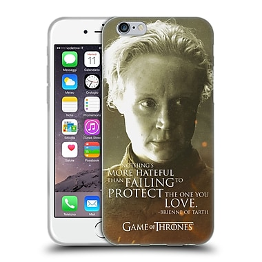 Official Hbo Game Of Thrones Character Portraits Brienne Of Tarth Soft Gel Case For Apple Iphone 6 / 6S