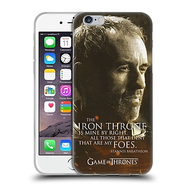 Official Hbo Game Of Thrones Character Portraits Stannis Baratheon Soft Gel Case For Apple Iphone 6 / 6S