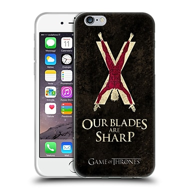 Official Hbo Game Of Thrones Dark Distressed Sigils Bolton Soft Gel Case For Apple Iphone 6 / 6S