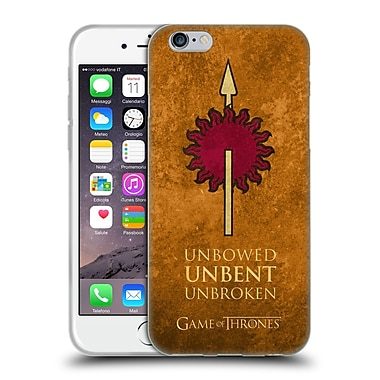 Official Hbo Game Of Thrones Dark Distressed Sigils Martell Soft Gel Case For Apple Iphone 6 / 6S