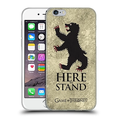 Official Hbo Game Of Thrones Dark Distressed Sigils Mormont Soft Gel Case For Apple Iphone 6 / 6S