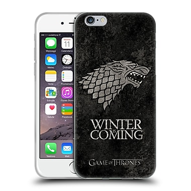 Official Hbo Game Of Thrones Dark Distressed Sigils Stark Soft Gel Case For Apple Iphone 6 / 6S