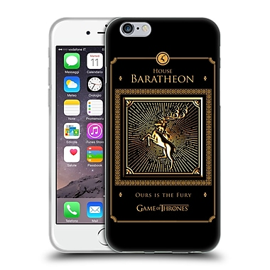 Official Hbo Game Of Thrones Golden Sigils Baratheon Border Soft Gel Case For Apple Iphone 6 / 6S