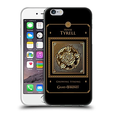 Official Hbo Game Of Thrones Golden Sigils Tyrell Border Soft Gel Case For Apple Iphone 6 / 6S