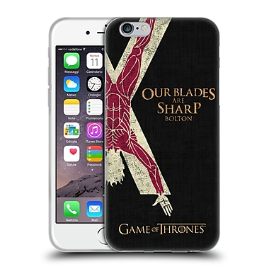Official Hbo Game Of Thrones House Mottos Bolton Soft Gel Case For Apple Iphone 6 / 6S