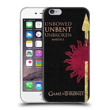 Official Hbo Game Of Thrones House Mottos Martell Soft Gel Case For Apple Iphone 6 / 6S
