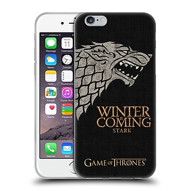 Official Hbo Game Of Thrones House Mottos Stark Soft Gel Case For Apple Iphone 6 / 6S