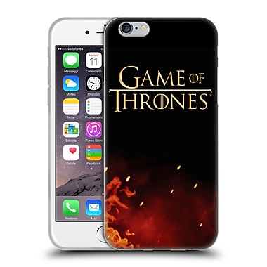 Official Hbo Game Of Thrones Key Art Logo Soft Gel Case For Apple Iphone 6 / 6S