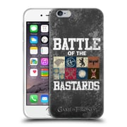 Official Hbo Game Of Thrones Battle Of The Bastards Distressed Text & Sigils Soft Gel Case For Apple Iphone 6 / 6S