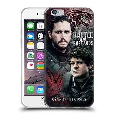 Official Hbo Game Of Thrones Battle Of The Bastards Jon Versus Ramsay Soft Gel Case For Apple Iphone 6 / 6S