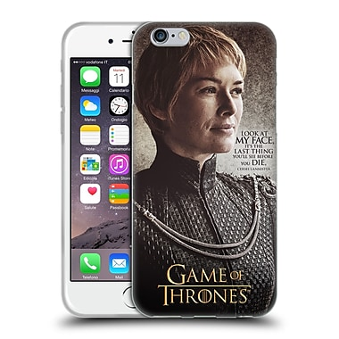 Official Hbo Game Of Thrones Character Quotes Cersei Lannister Soft Gel Case For Apple Iphone 6 / 6S
