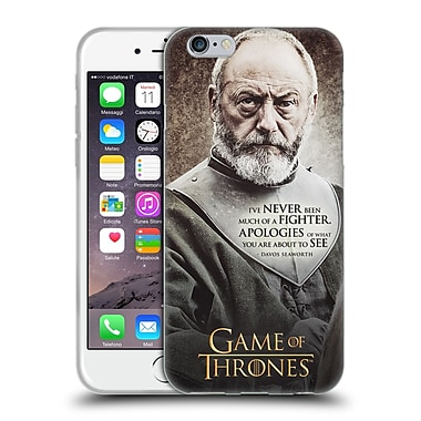 Official Hbo Game Of Thrones Character Quotes Davos Seaworth Soft Gel Case For Apple Iphone 6 / 6S