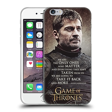 Official Hbo Game Of Thrones Character Quotes Jaime Lannister Soft Gel Case For Apple Iphone 6 / 6S