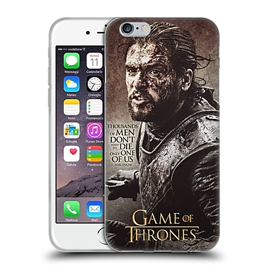 Official Hbo Game Of Thrones Character Quotes Jon Snow Soft Gel Case For Apple Iphone 6 / 6S