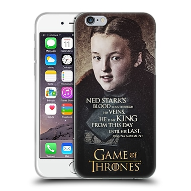 Official Hbo Game Of Thrones Character Quotes Lyanna Mormont Soft Gel Case For Apple Iphone 6 / 6S