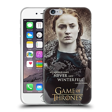 Official Hbo Game Of Thrones Character Quotes Sansa Stark Soft Gel Case For Apple Iphone 6 / 6S