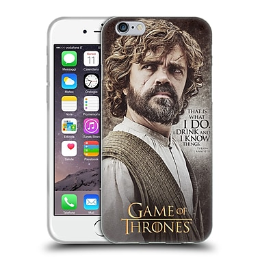 Official Hbo Game Of Thrones Character Quotes Tyrion Lannister Soft Gel Case For Apple Iphone 6 / 6S