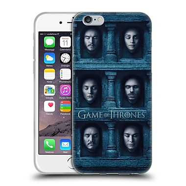 Official Hbo Game Of Thrones Faces Six Heads Soft Gel Case For Apple Iphone 6 / 6S