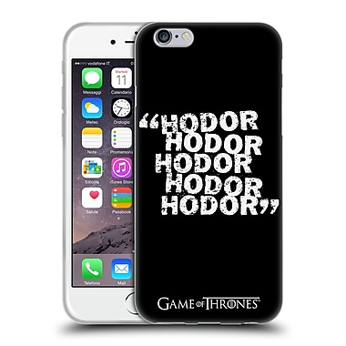 Official Hbo Game Of Thrones Hodor Quote 2 Soft Gel Case For Apple Iphone 6 / 6S