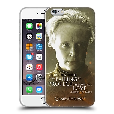 Official Hbo Game Of Thrones Character Portraits Brienne Of Tarth Soft Gel Case For Apple Iphone 6 Plus / 6S Plus