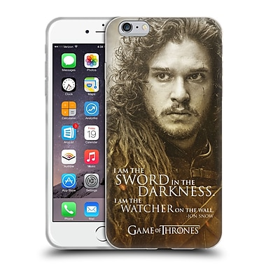Official Hbo Game Of Thrones Character Portraits Jon Snow Soft Gel Case For Apple Iphone 6 Plus / 6S Plus