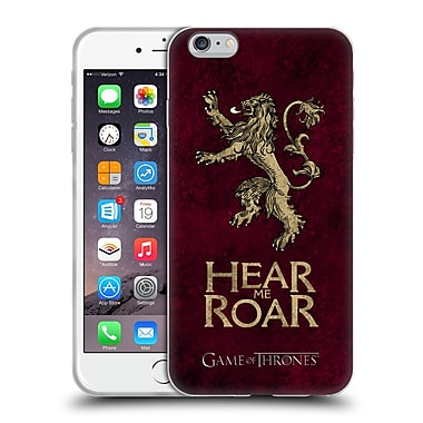 Official Hbo Game Of Thrones Dark Distressed Sigils Lannister Soft Gel Case For Apple Iphone 6 Plus / 6S Plus