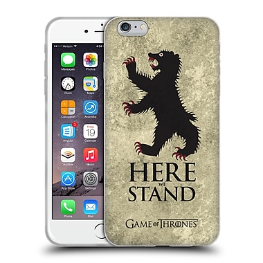 Official Hbo Game Of Thrones Dark Distressed Sigils Mormont Soft Gel Case For Apple Iphone 6 Plus / 6S Plus