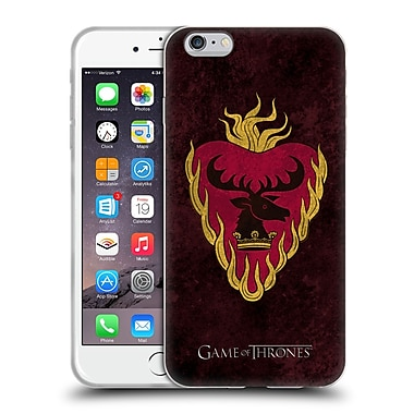 Official Hbo Game Of Thrones Dark Distressed Sigils Stannis Soft Gel Case For Apple Iphone 6 Plus / 6S Plus