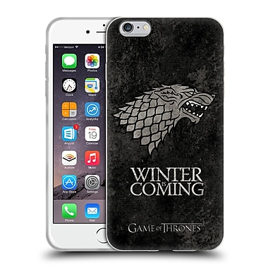 Official Hbo Game Of Thrones Dark Distressed Sigils Stark Soft Gel Case For Apple Iphone 6 Plus / 6S Plus